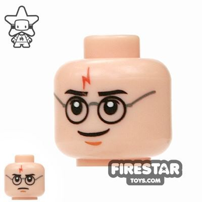 LEGO Mini Figure Heads - Harry Potter - Frown / Smile