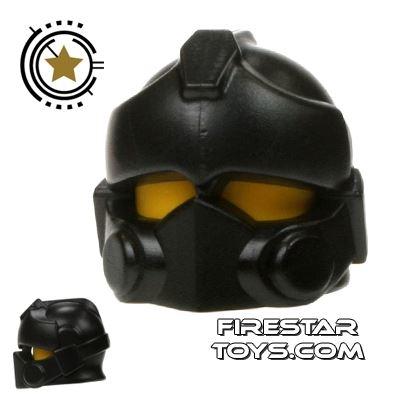 BrickWarriors - Resistance Trooper Helmet - Black