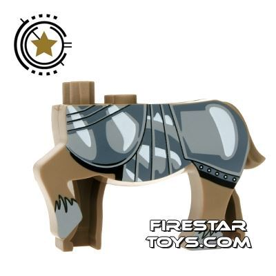 BrickForge Animals Mini Figure - Centaur Charger - Dark Tan