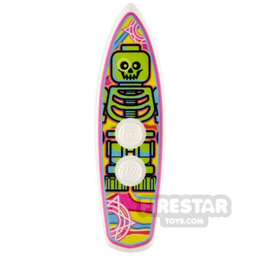 Custom Design - Surfboard - Neon Skeleton