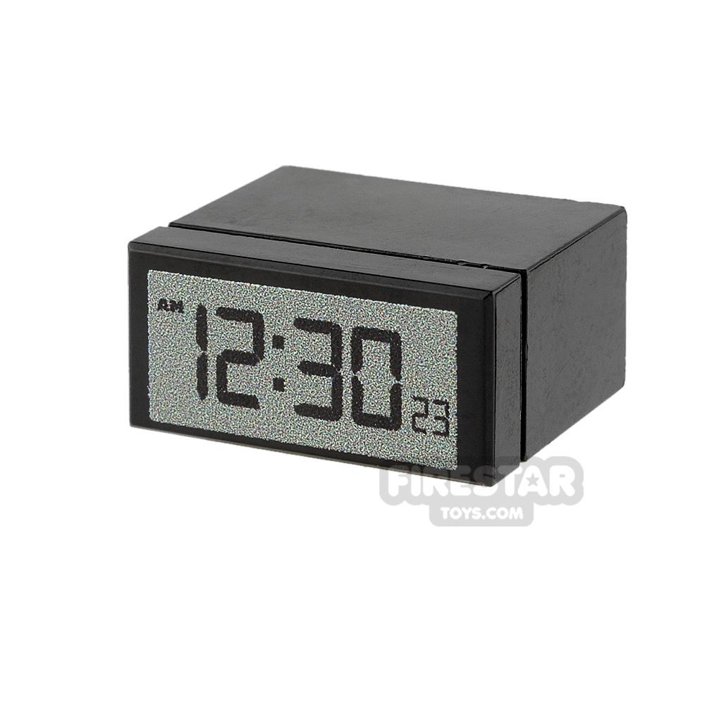 Custom Design - Alarm Clock - Black