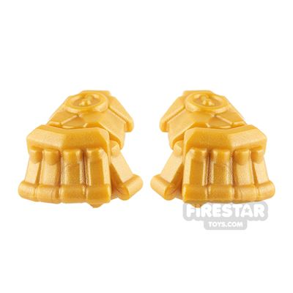 BrickWarriors - Powerfists - Pair - Pearl Gold