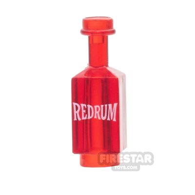 BrickForge - Square Bottle - Trans Red - Red Rum