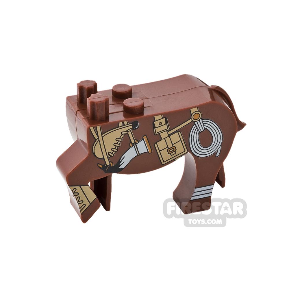 BrickForge Animals Mini Figure - Centaur Scout - Reddish Brown