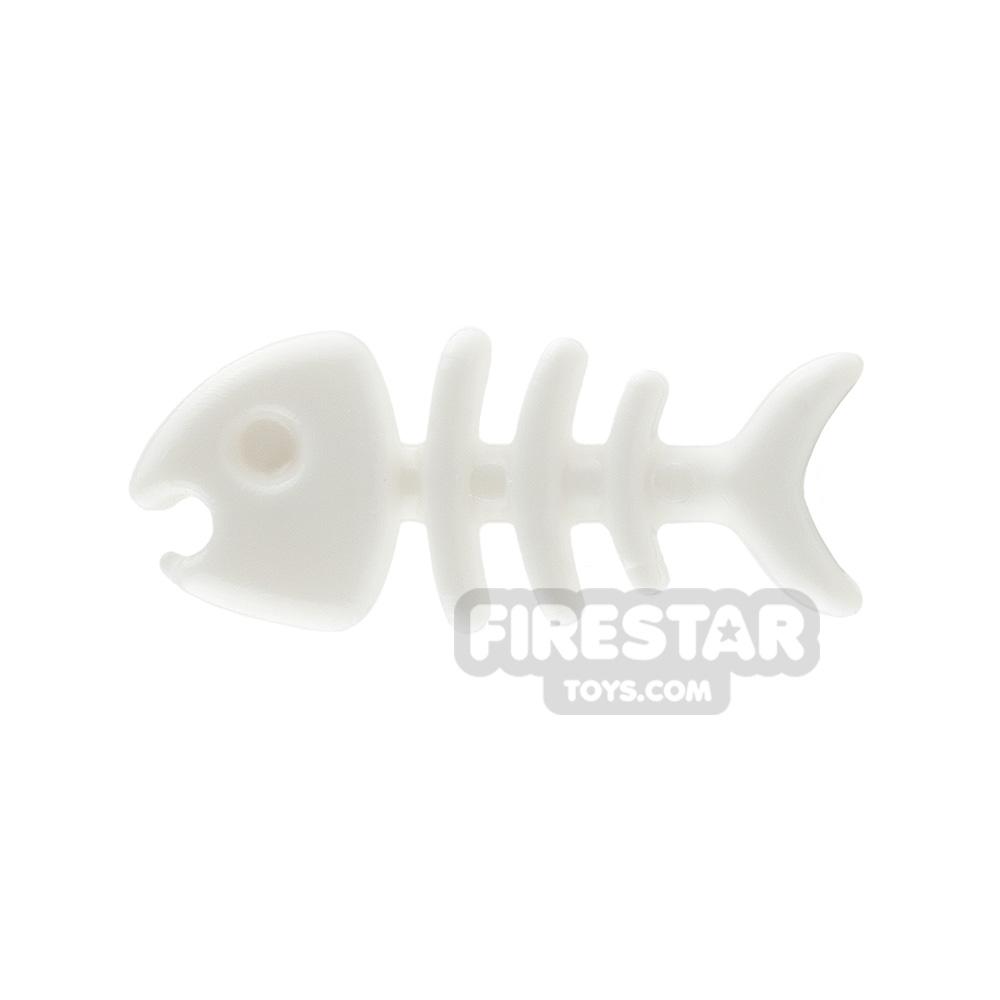SI-DAN Animals Mini Figure - Fish Bone - White