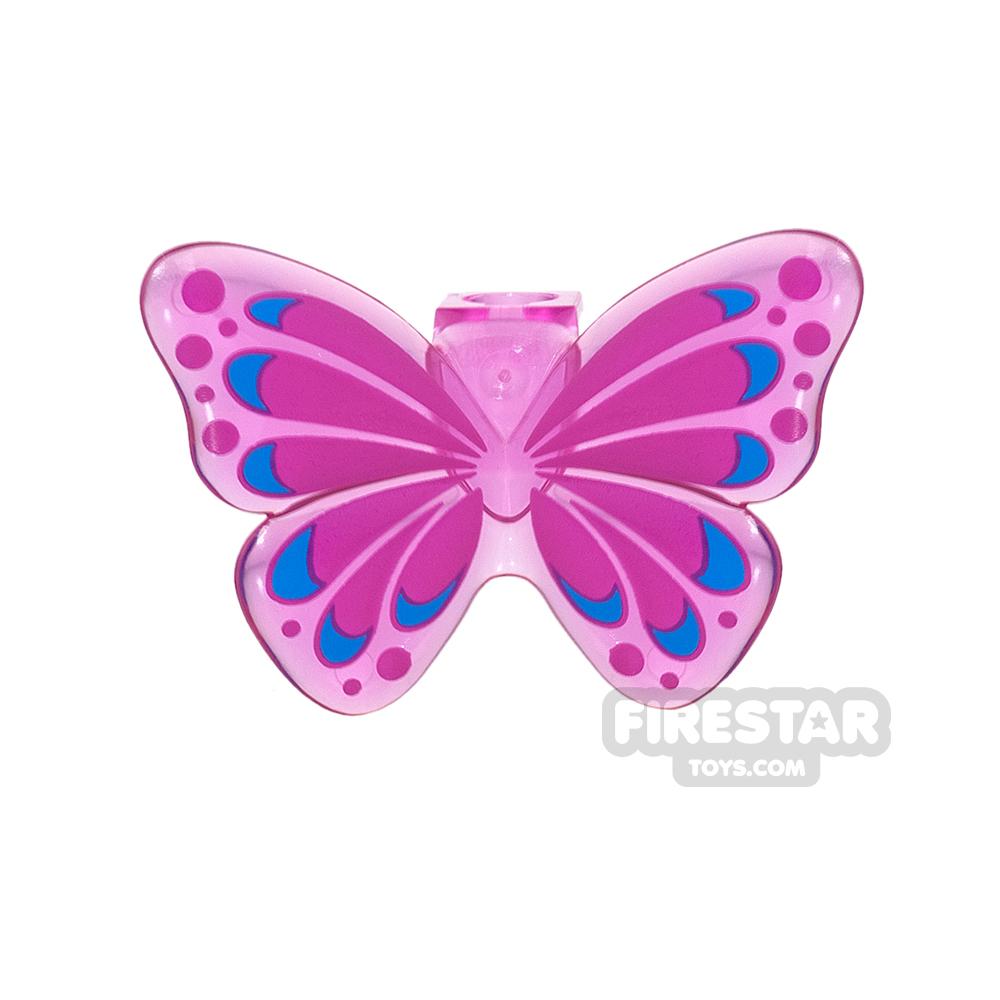 LEGO - Butterfly Wings - Trans Dark Pink