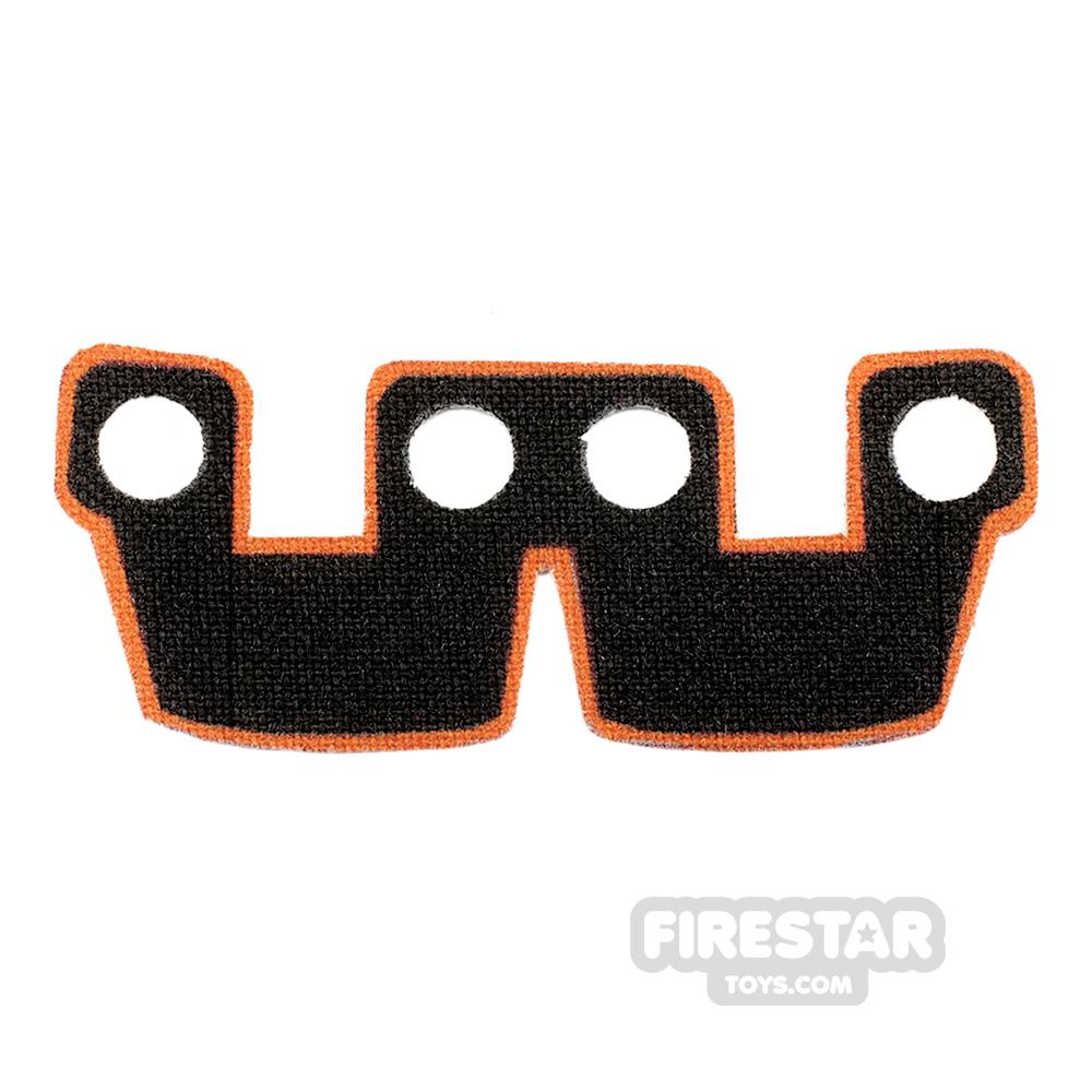 Custom Design Cape - Kama Cloth Waist Armour - Black and Orange