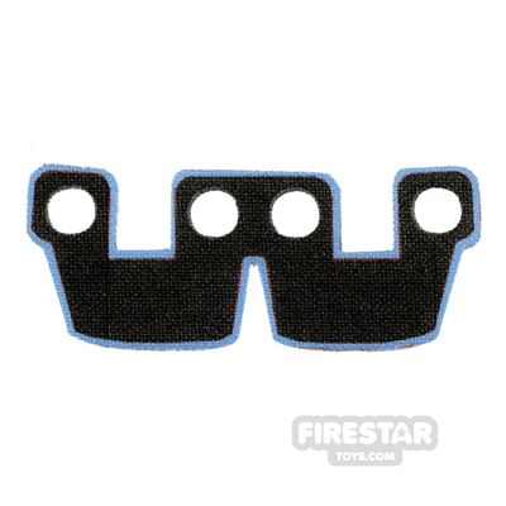 Custom Design Cape - Kama Cloth Waist Armour - Black and Blue