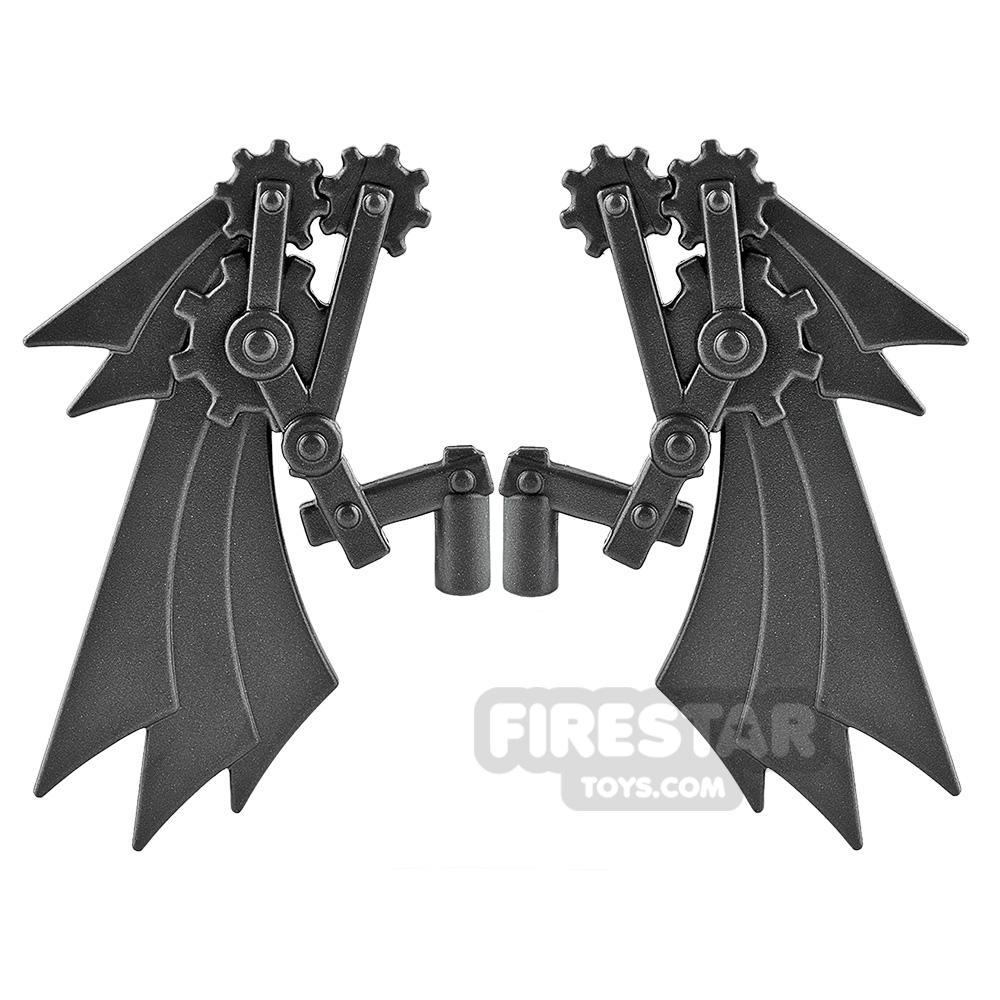 BrickWarriors - Steampunk Wings - Steel