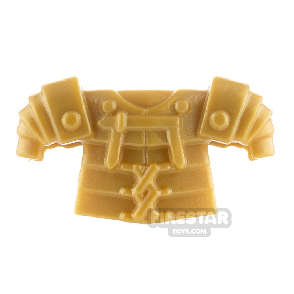 BrickWarriors - Lorica Segmentata Armour - Pearl Gold