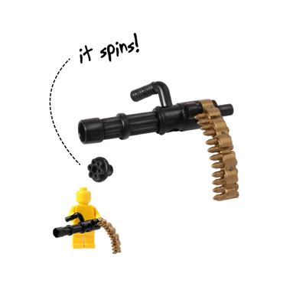 Brickarms - Minigun - Black and Brass