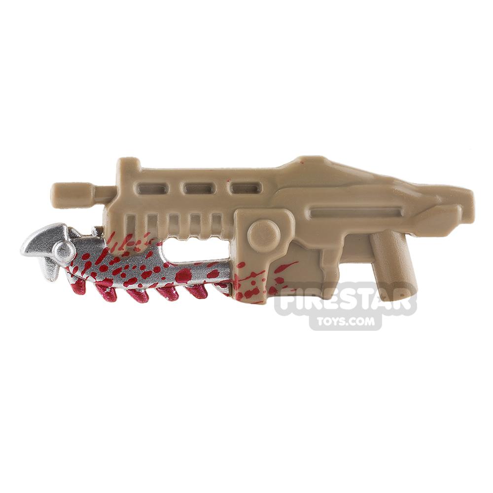 BrickForge - Shredder Gun - Dark Tan with Blood Splatter