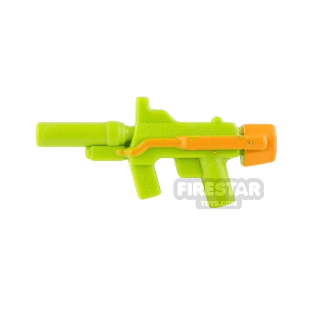 BrickForge - Sub Orbital Machine Gun - Lime and Medium Orange