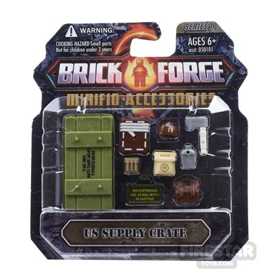 BrickForge Accessory Pack - WW2 - US Supply Crate