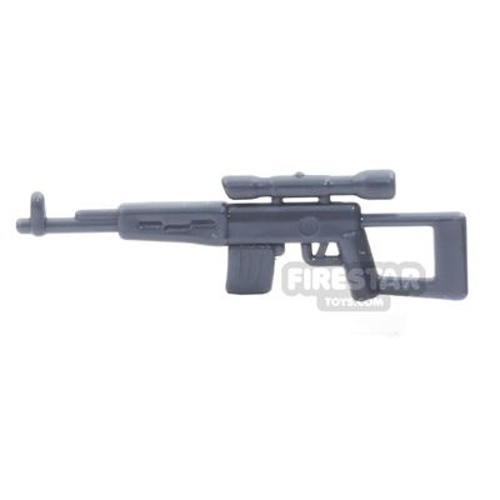 CombatBrick - SVD - Dragunov Sniper Rifle - Dark Blueish Gray