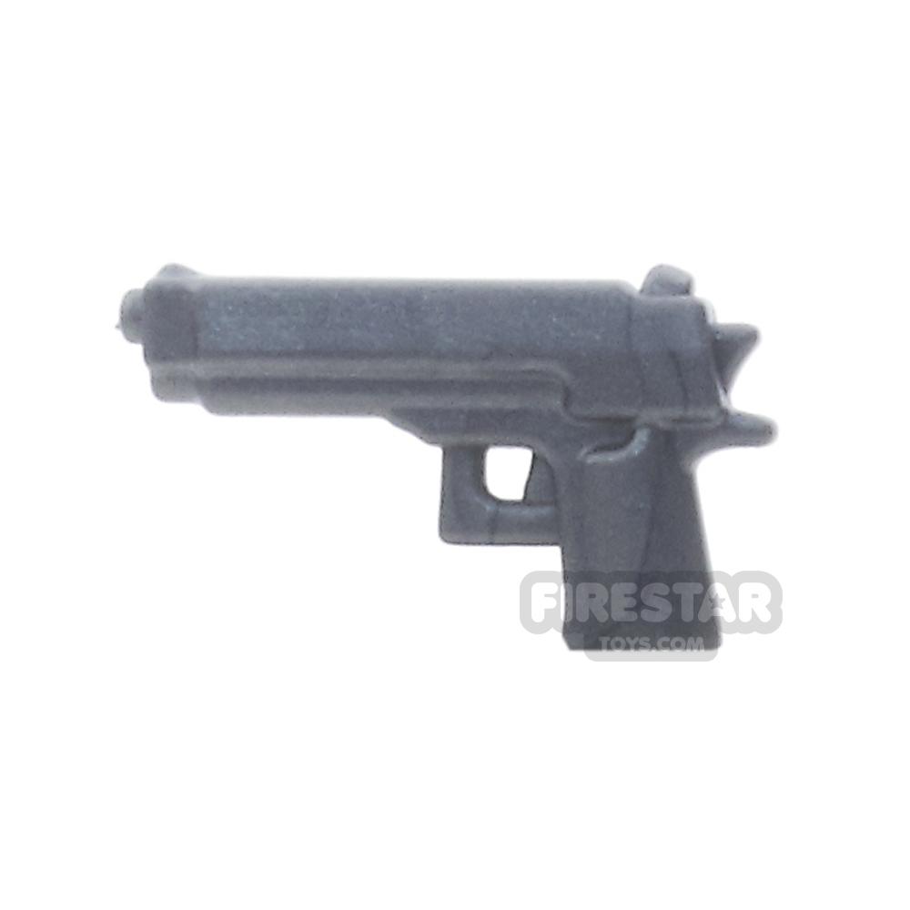 BrickWarriors - Combat Pistol - Steel