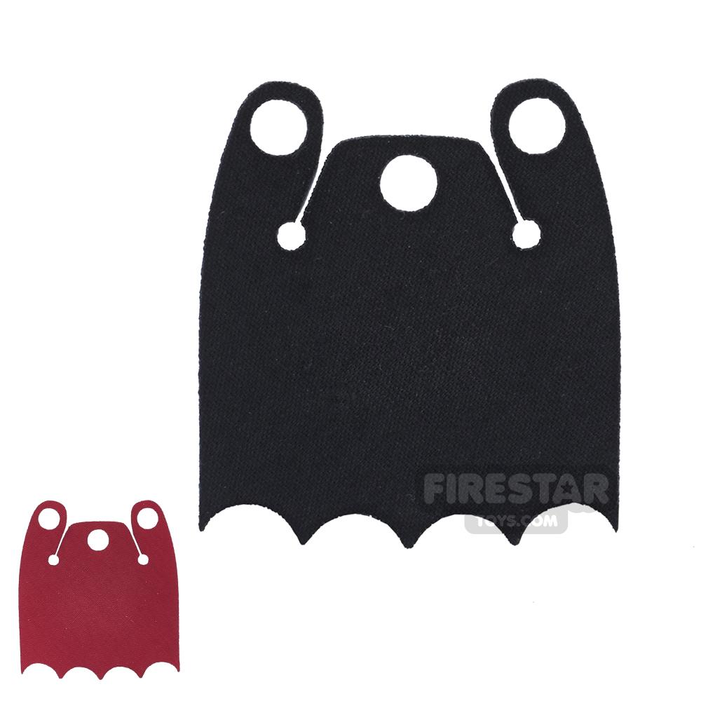 Custom Design Cape - Batman Cloak - Bite Overshoulder - Red And Black
