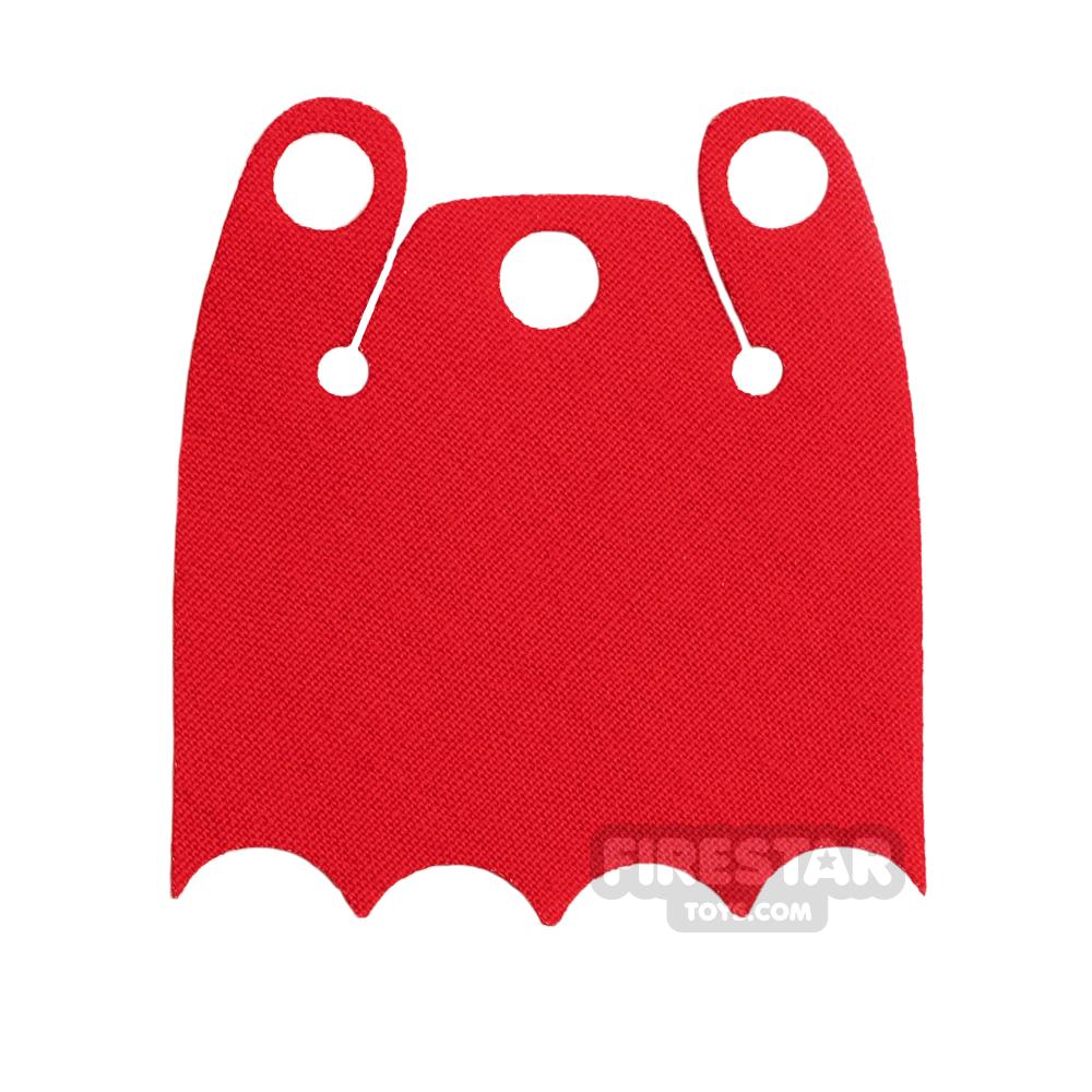 Custom Design Cape - Batman Cloak - Bite Overshoulder - Bright Red