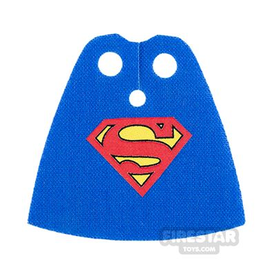 Custom Design Cape - Standard - Blue with Red 'S'