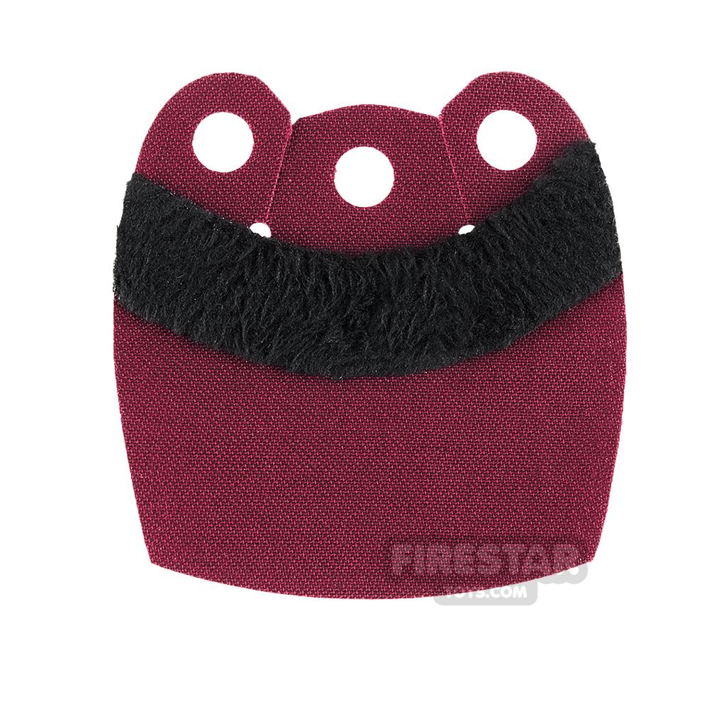 Custom Design Cape - Mid Cape - Upper Fur - Dark Red - Black Fur