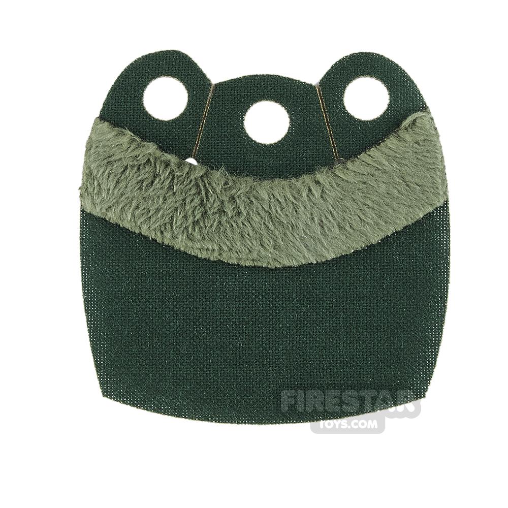 Custom Design Cape - Mid Cape - Upper Fur - Dark Green - Green Fur