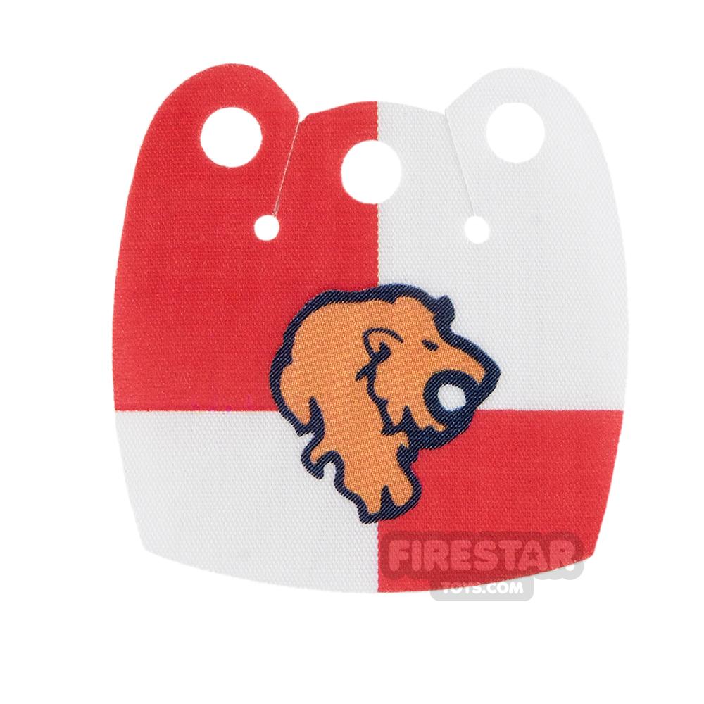 Custom Design Cape - Mid Cape - Lion Head - Red and White