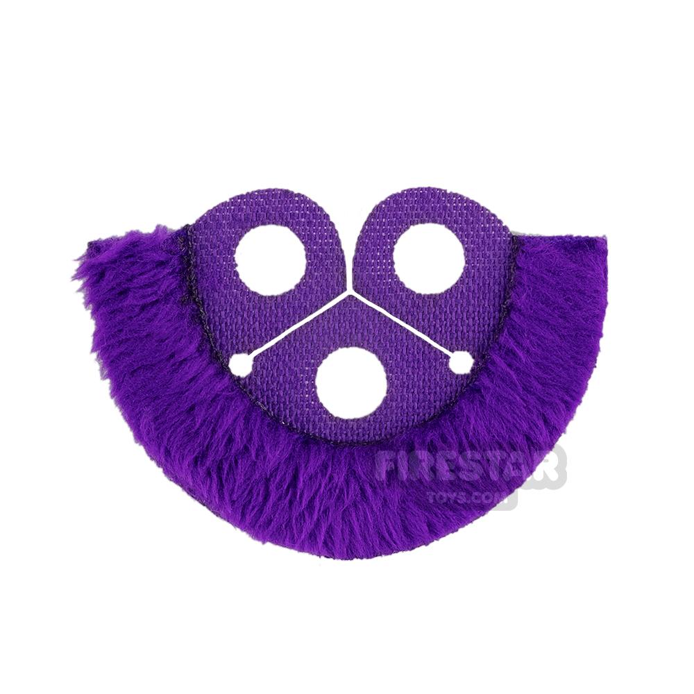 Custom Design Cape - Dress Coat Topper - Dark Purple with Fur