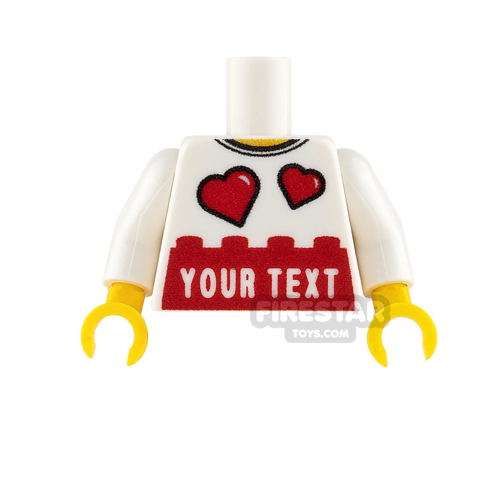 Engraved Minifigure Torso - Love Hearts