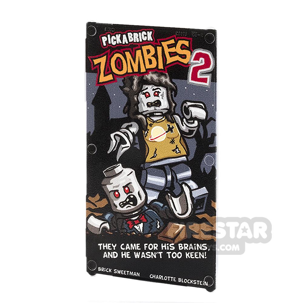Printed Window Glass 1x4x6 - Movie Poster - Zombie