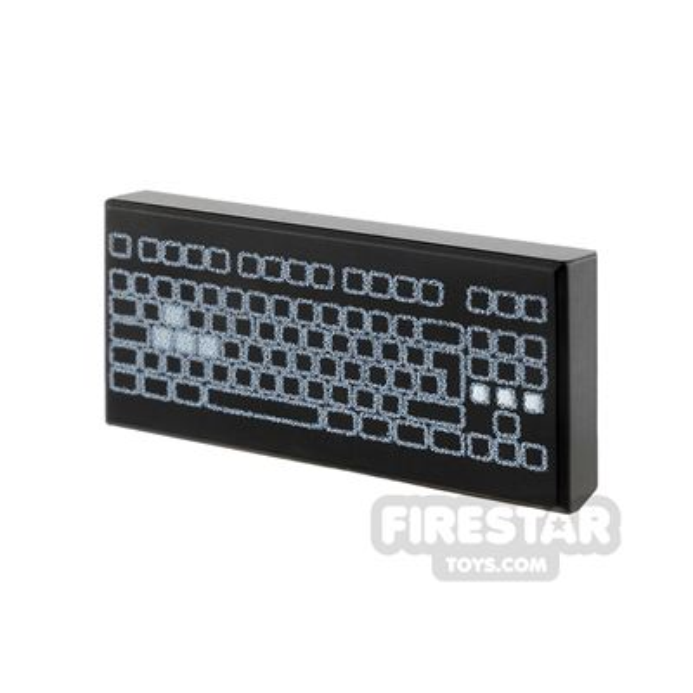 Printed Tile 1x2 - Computer Keyboard