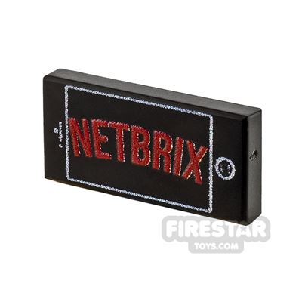 Printed Tile 1x2 - Netbrix on Phone