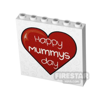 Printed Panel 1x6x5 - Happy Mummy's Day - Mother's Day