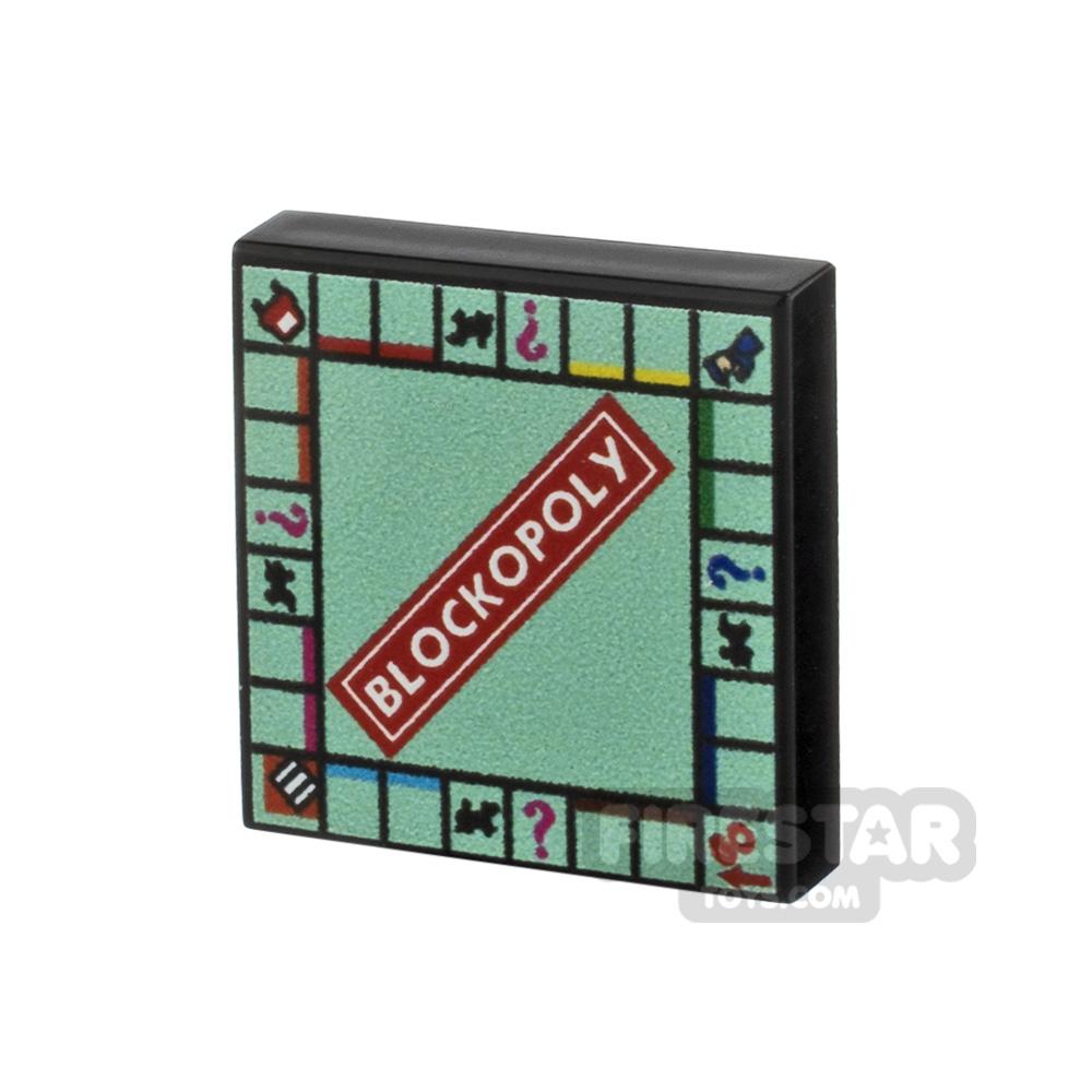 Printed Tile 2x2 - Monopoly Board