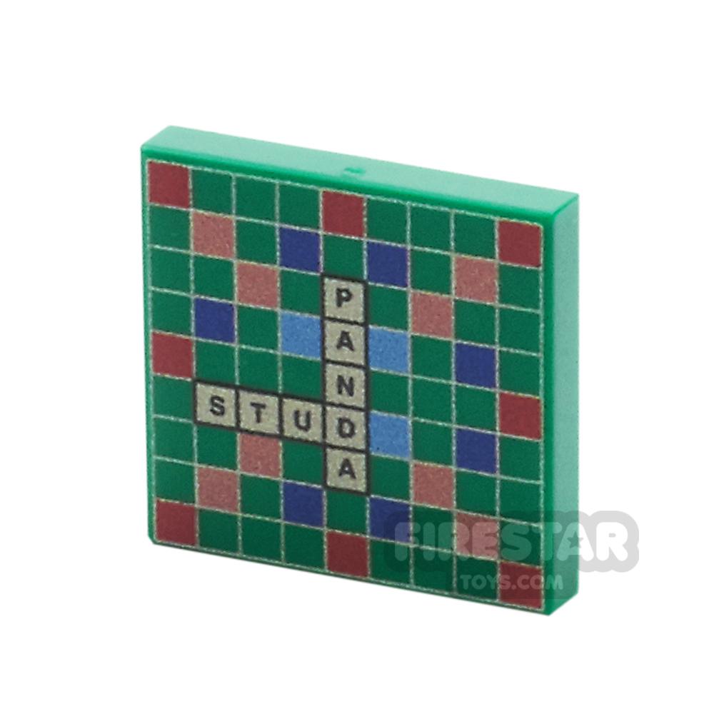 Printed Tile 2x2 - Scrabble Board