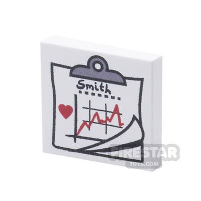 Printed Tile 2x2 - Hospital Bed Chart