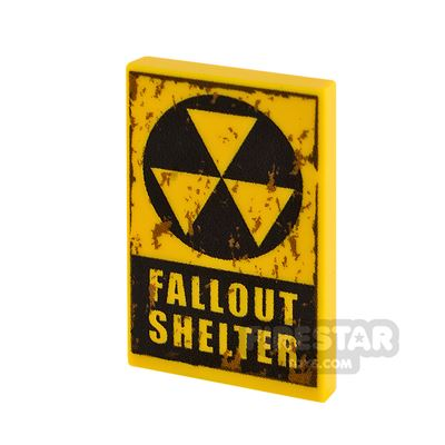 Printed Tile 2x3 Fallout Shelter Dirt Stains