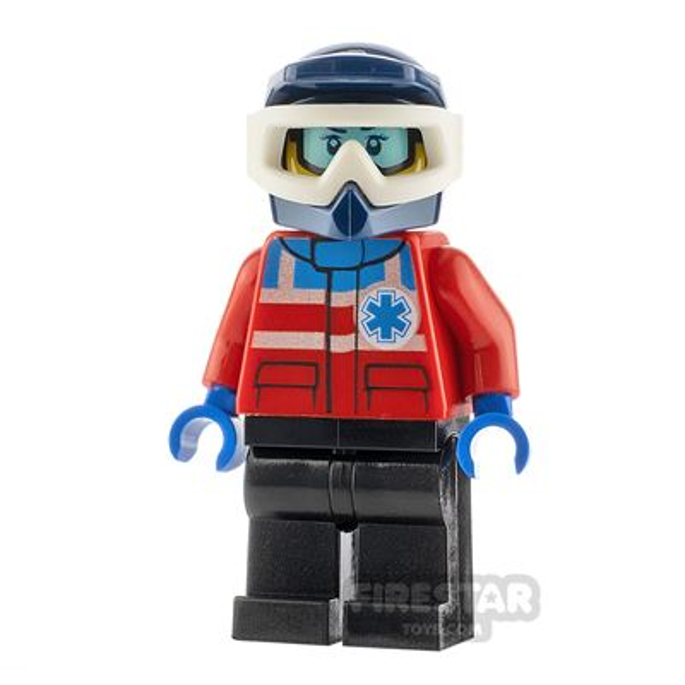 LEGO City Minifigure Ski Patrol Dark Blue Helmet
