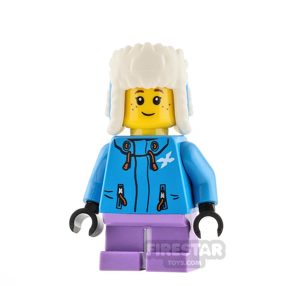 LEGO City Minifigure Girl With Ushanka Hat