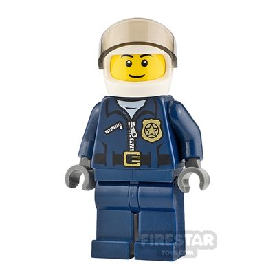 LEGO City Minifigure Helicopter Pilot Small Smile