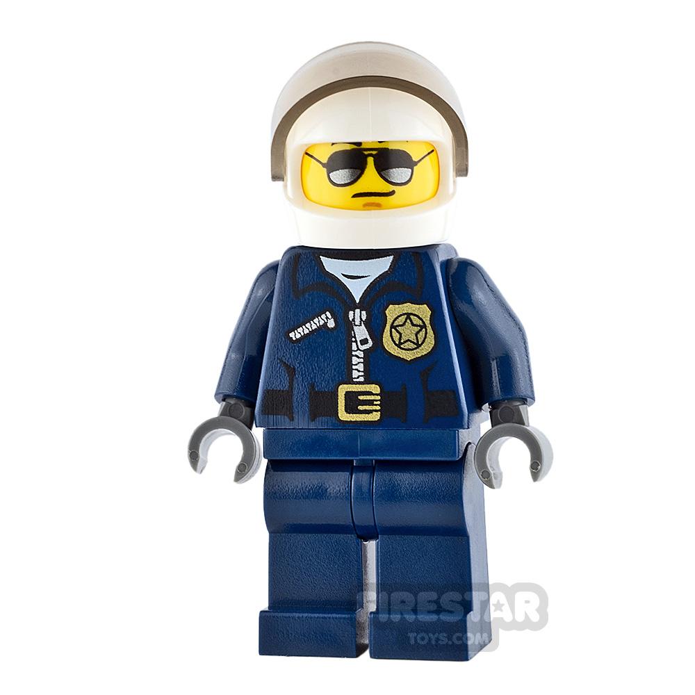 LEGO City Minifigure Helicopter Pilot Black Eyebrows