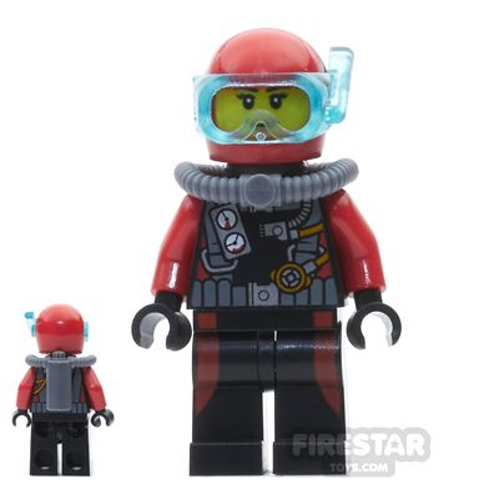 LEGO City Mini Figure - Female Scuba Diver - without Flippers