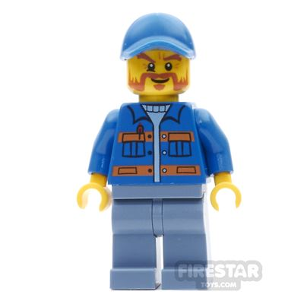 LEGO City Mini Figure - Blue Jacket And Orange Beard