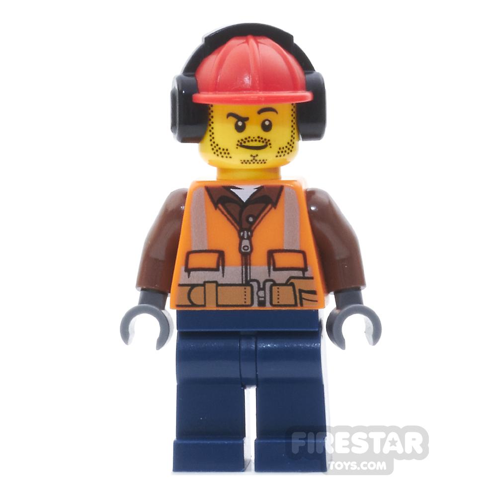 LEGO City Mini Figure - Fire - Orange Zipper, Safety Stripes