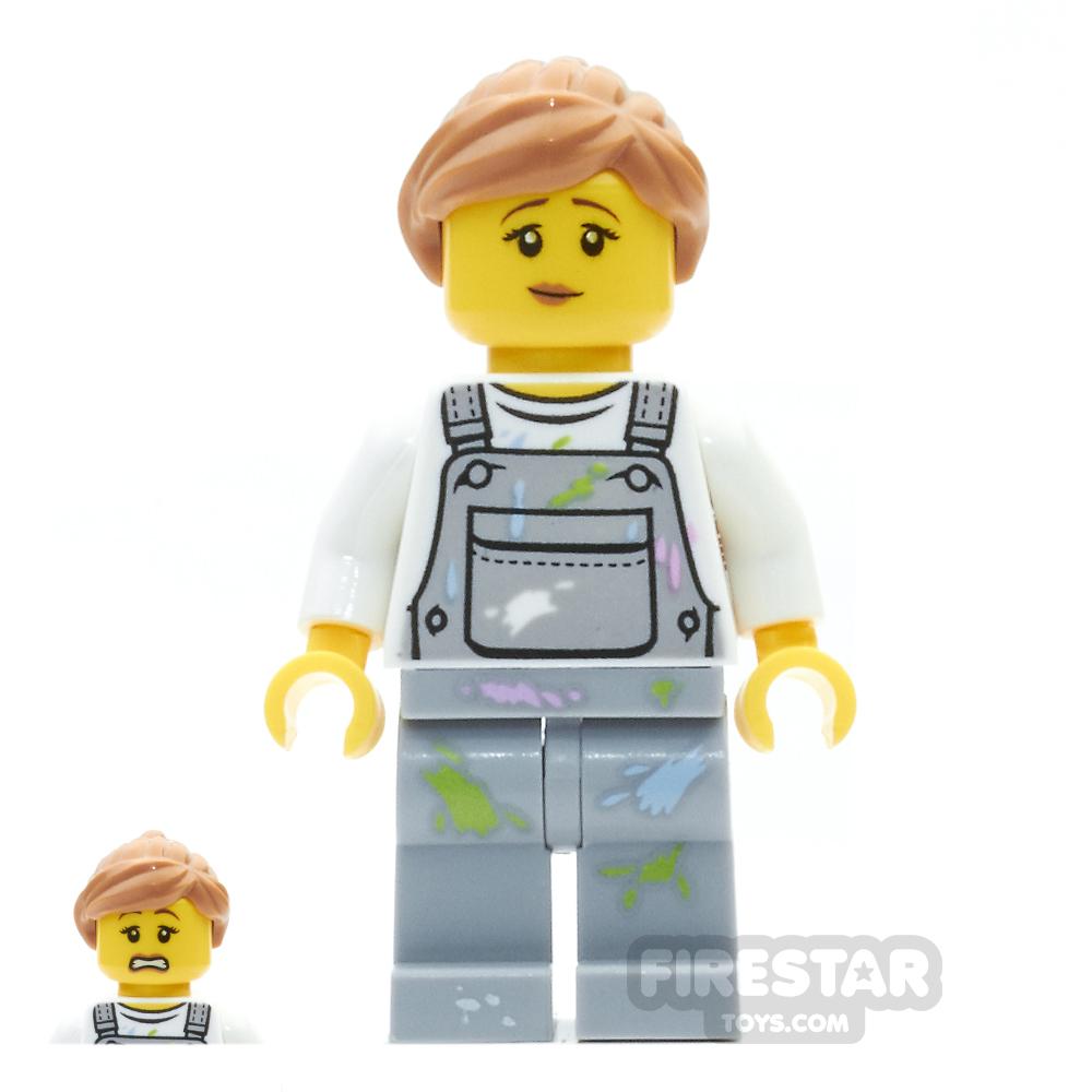 LEGO City Mini Figure - Fence Painter - Female