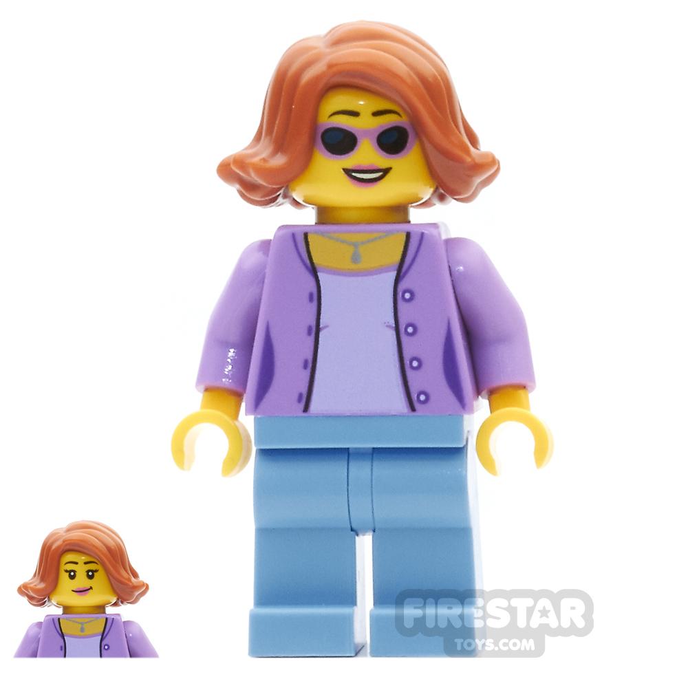 LEGO City Mini Figure - Mum - Medium Lavender Jacket