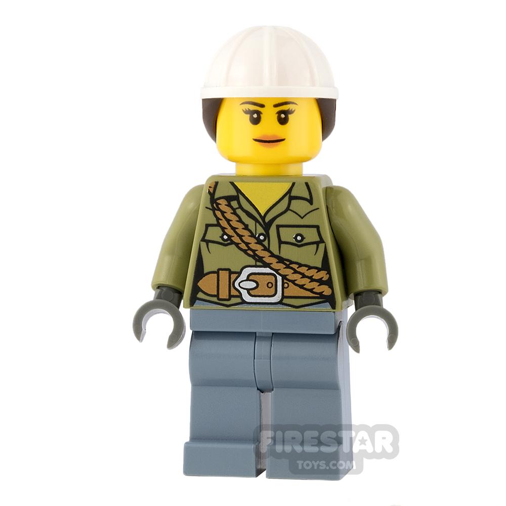 LEGO City Mini Figure - Volcano Explorer - Female, with Ponytail