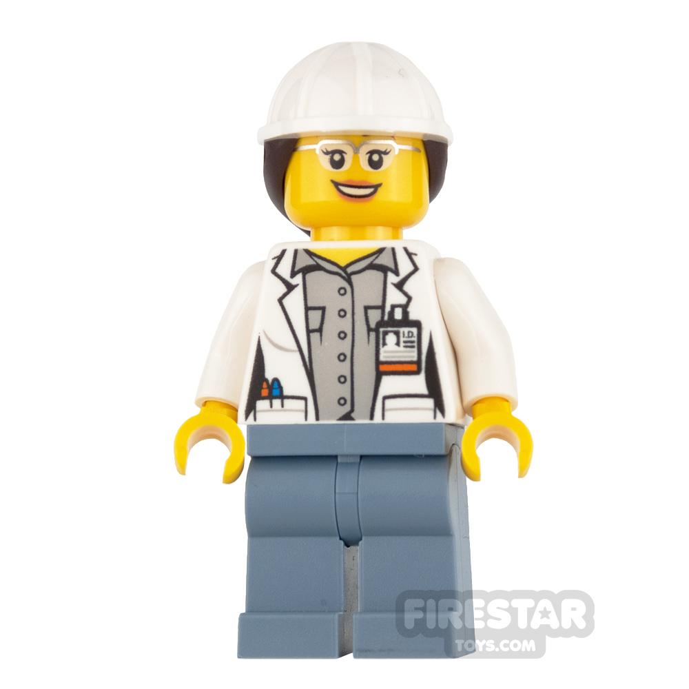 LEGO City Mini Figure - Volcano Explorer - Female, with Hard Hat