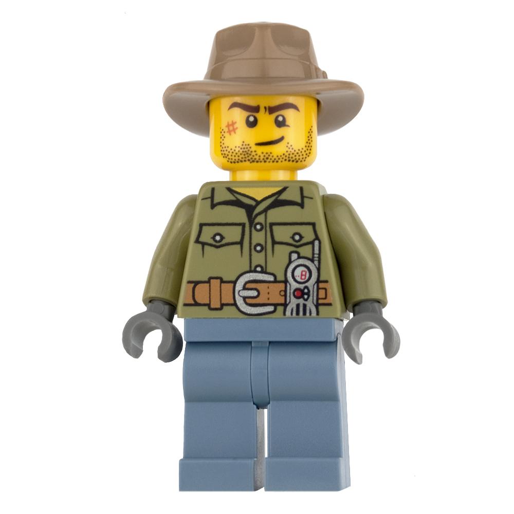 LEGO City Mini Figure - Volcano Explorer - Stubble and Dark Tan Fedora