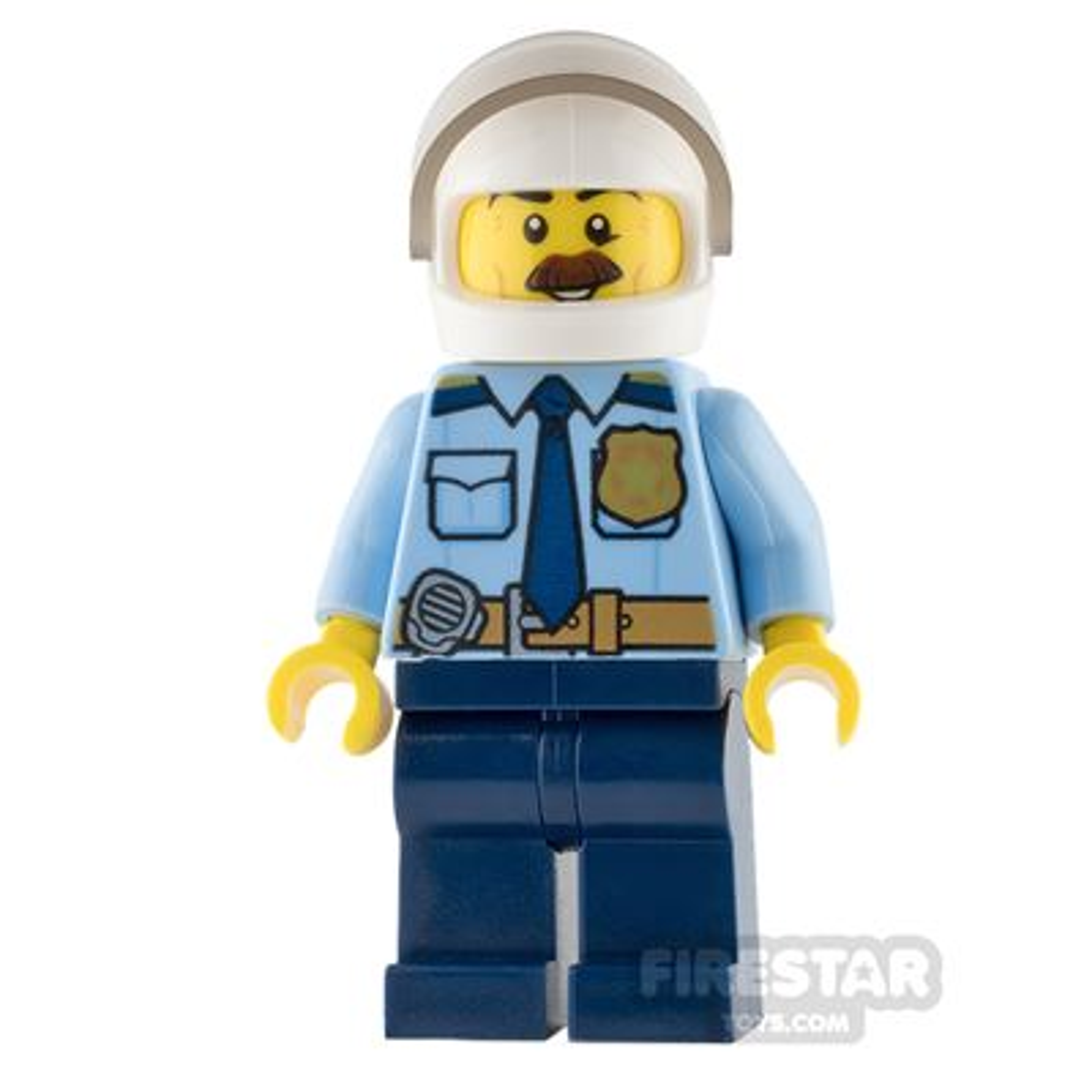 LEGO City Mini Figure - Police - Gold Badge and Bushy Moustache