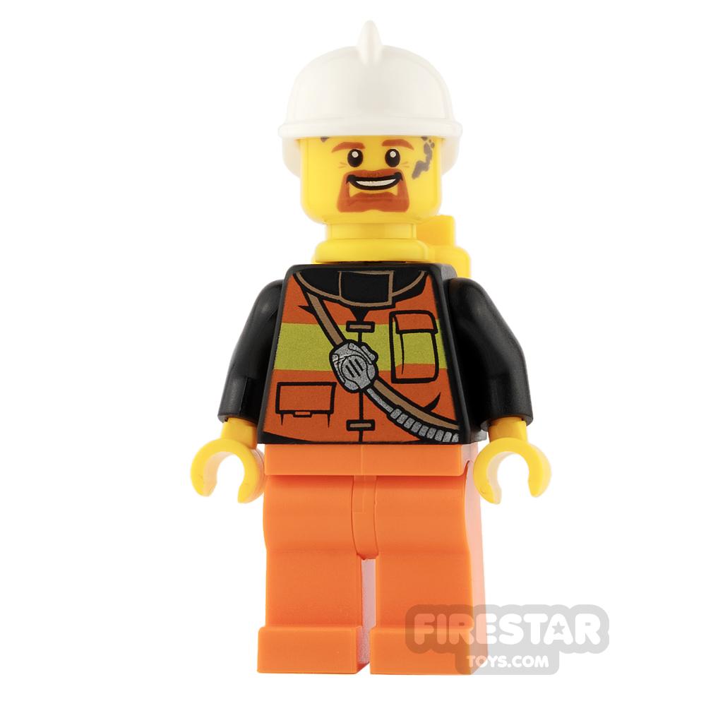 LEGO City Mini Figure - Fireman - Orange Legs